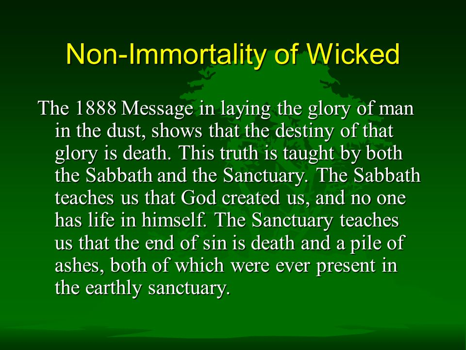 Non-Immortality of Wicked