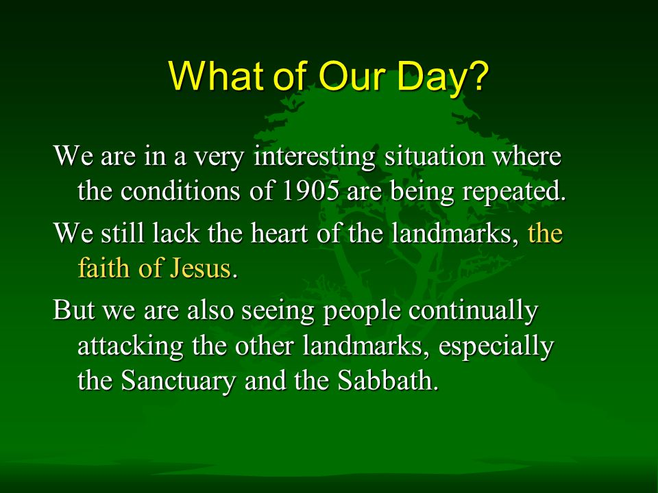 What of Our Day We are in a very interesting situation where the conditions of 1905 are being repeated.