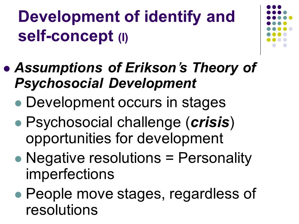 Development of identify and self-concept (I)