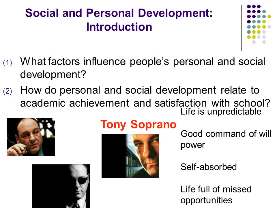 Social and Personal Development: Introduction