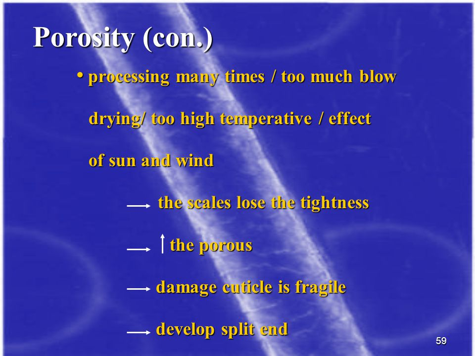Porosity (con.) processing many times / too much blow