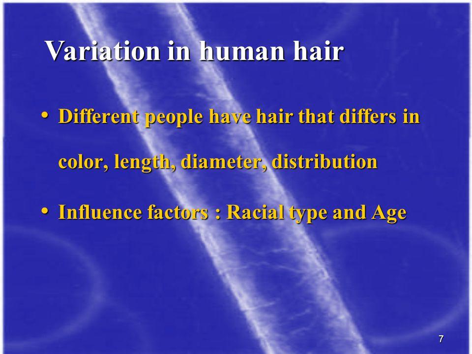 Variation in human hair