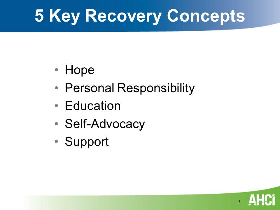 5 Key Recovery Concepts Hope Personal Responsibility Education