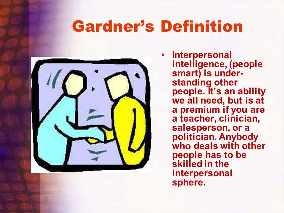 Gardner's Definition