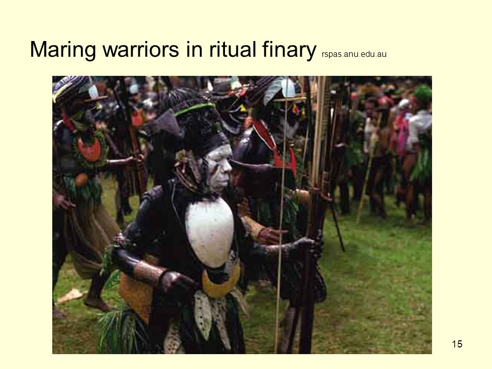 Maring warriors in ritual finary rspas.anu.edu.au