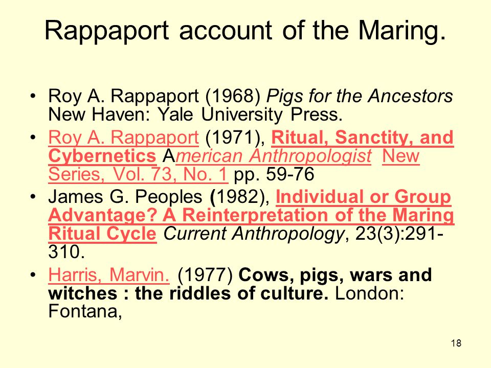 Rappaport account of the Maring.
