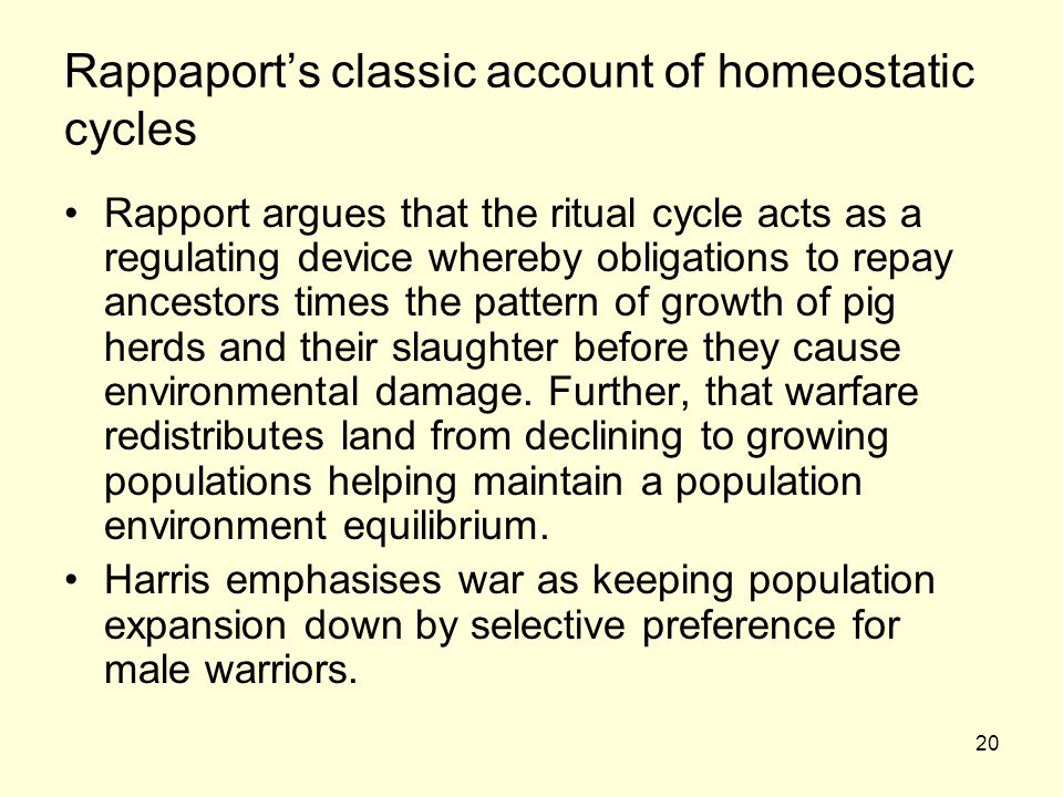 Rappaport's classic account of homeostatic cycles