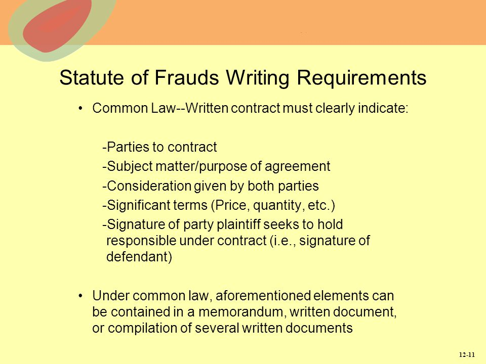 Contracts In Writing And Third-Party Contracts - Ppt Video Online