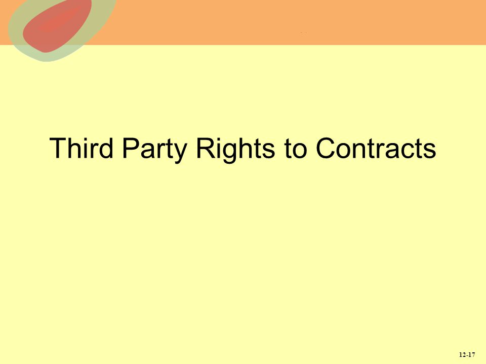 Third Party Rights to Contracts