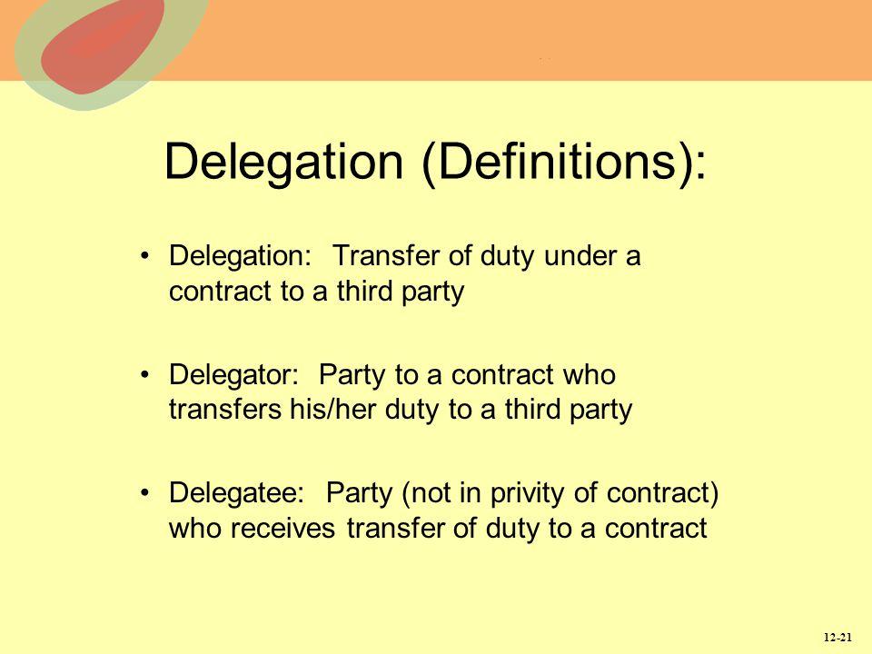 Delegation (Definitions):