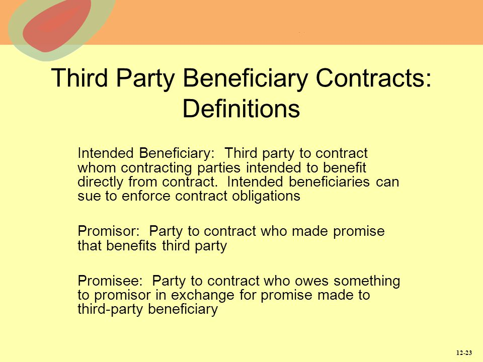 Third Party Beneficiary Contracts: Definitions