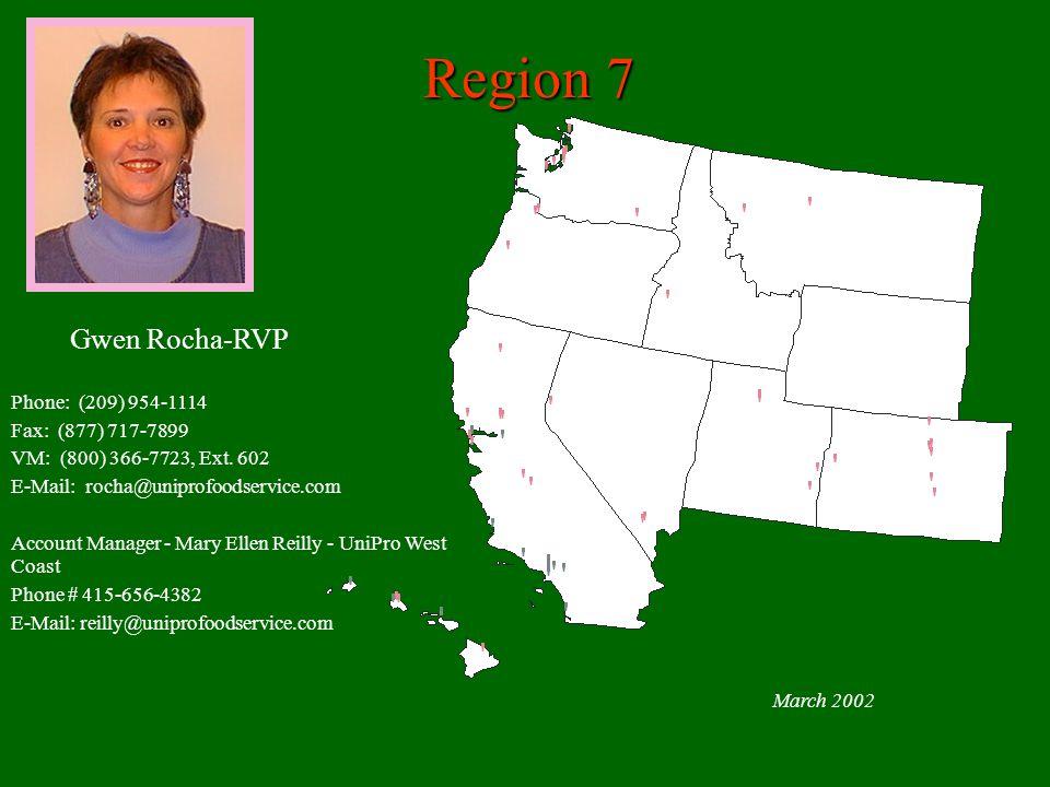 Region 7 Gwen Rocha-RVP Phone: (209) 954-1114 Fax: (877) 717-7899