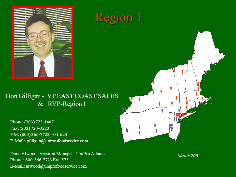 Don Gilligan - VP EAST COAST SALES & RVP-Region 1