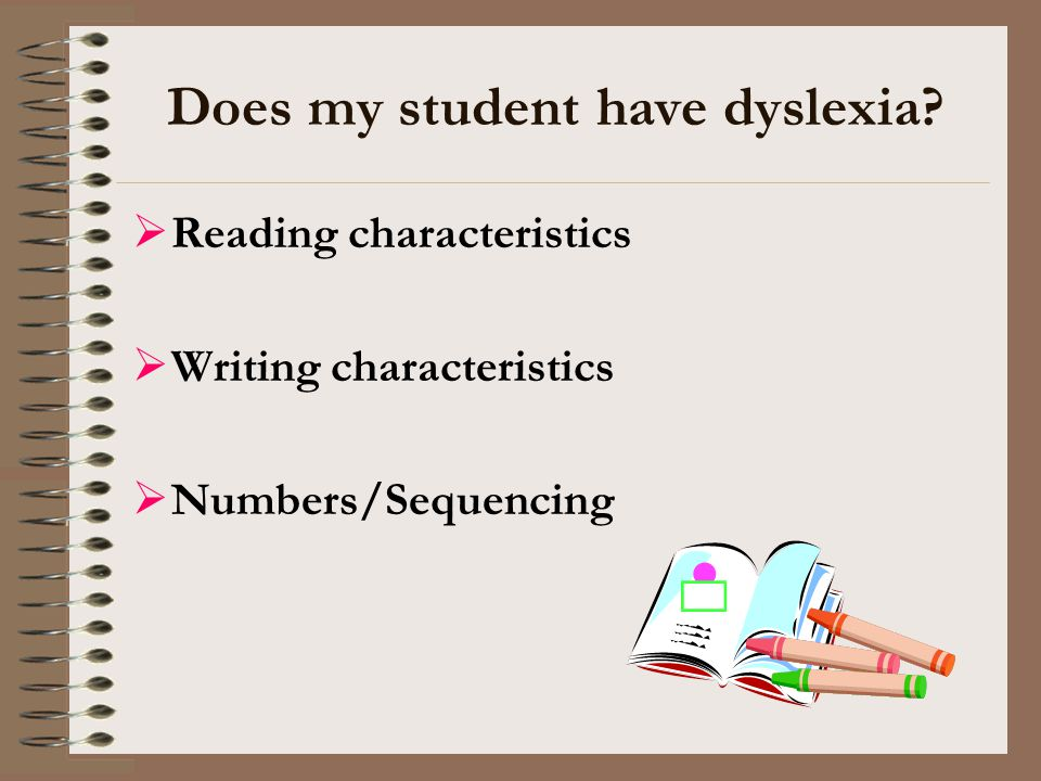 Does my student have dyslexia