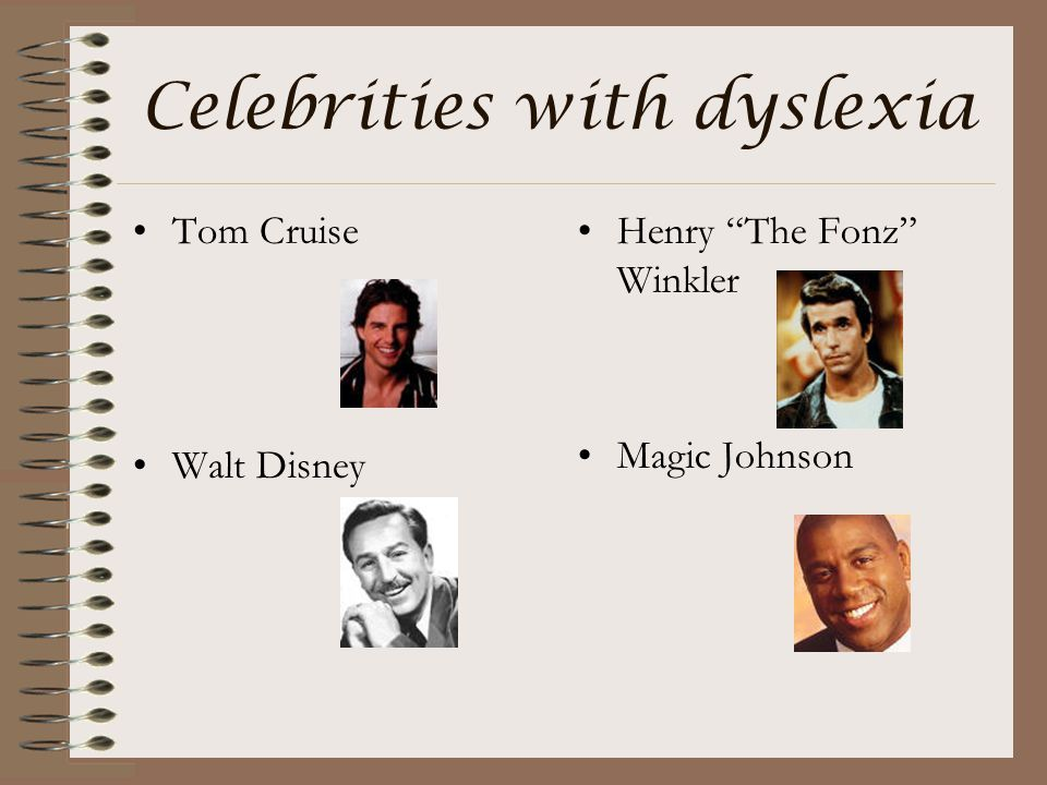 Celebrities with dyslexia
