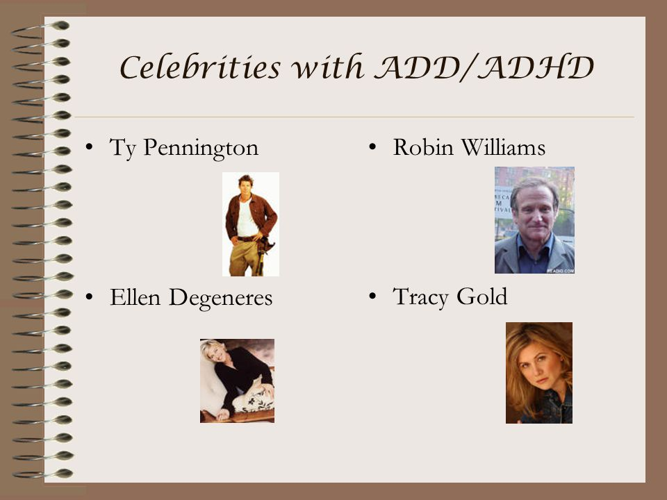 Celebrities with ADD/ADHD