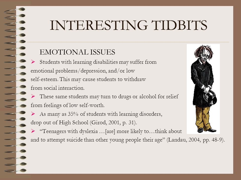 INTERESTING TIDBITS EMOTIONAL ISSUES