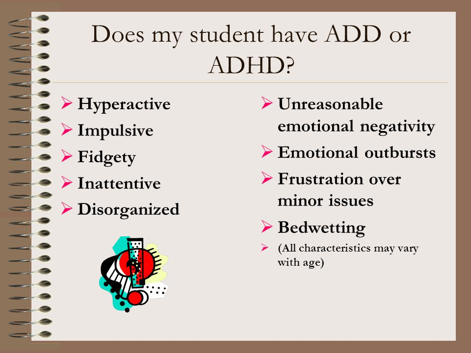 Does my student have ADD or ADHD