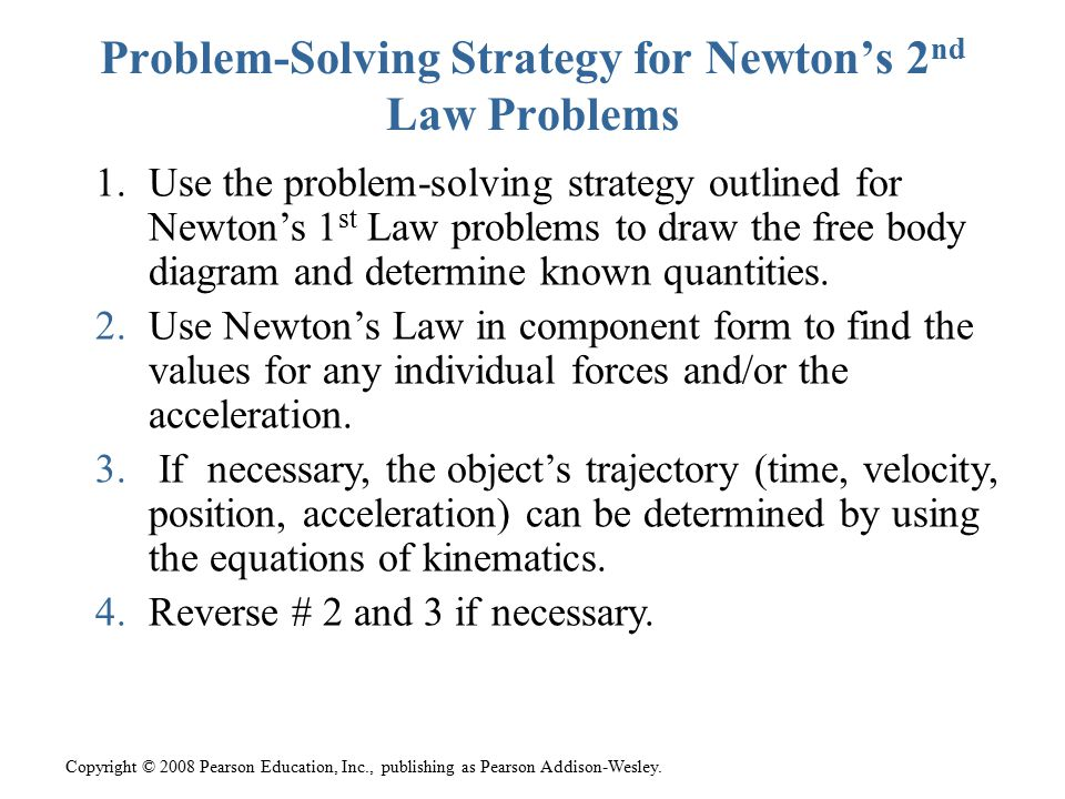 Problem-Solving Strategy for Newton's 2nd Law Problems