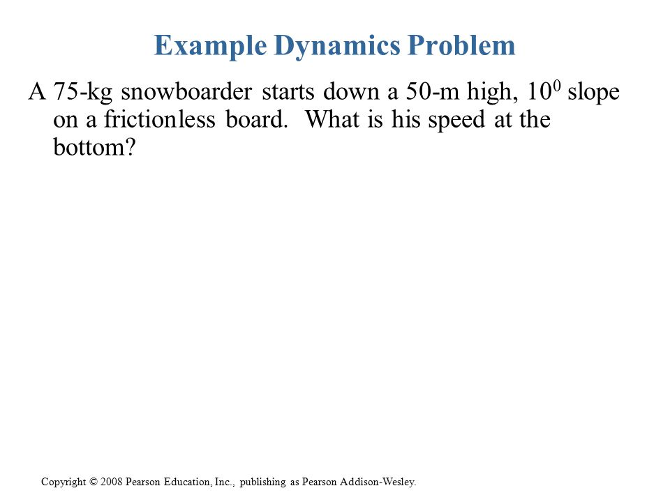 Example Dynamics Problem