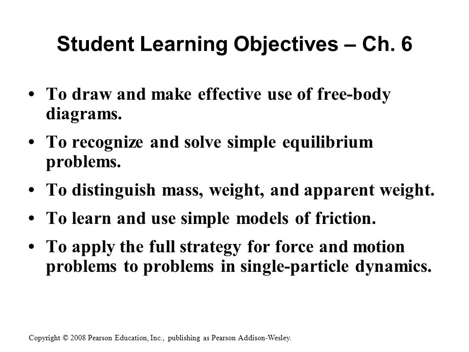 Student Learning Objectives – Ch. 6