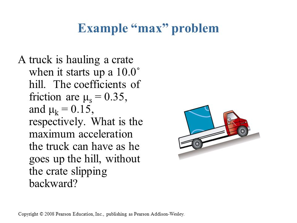 Example max problem