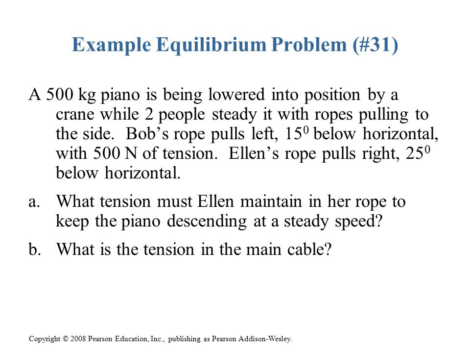 Example Equilibrium Problem (#31)