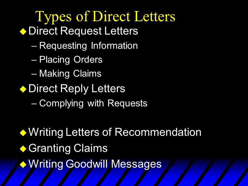 Types of Direct Letters