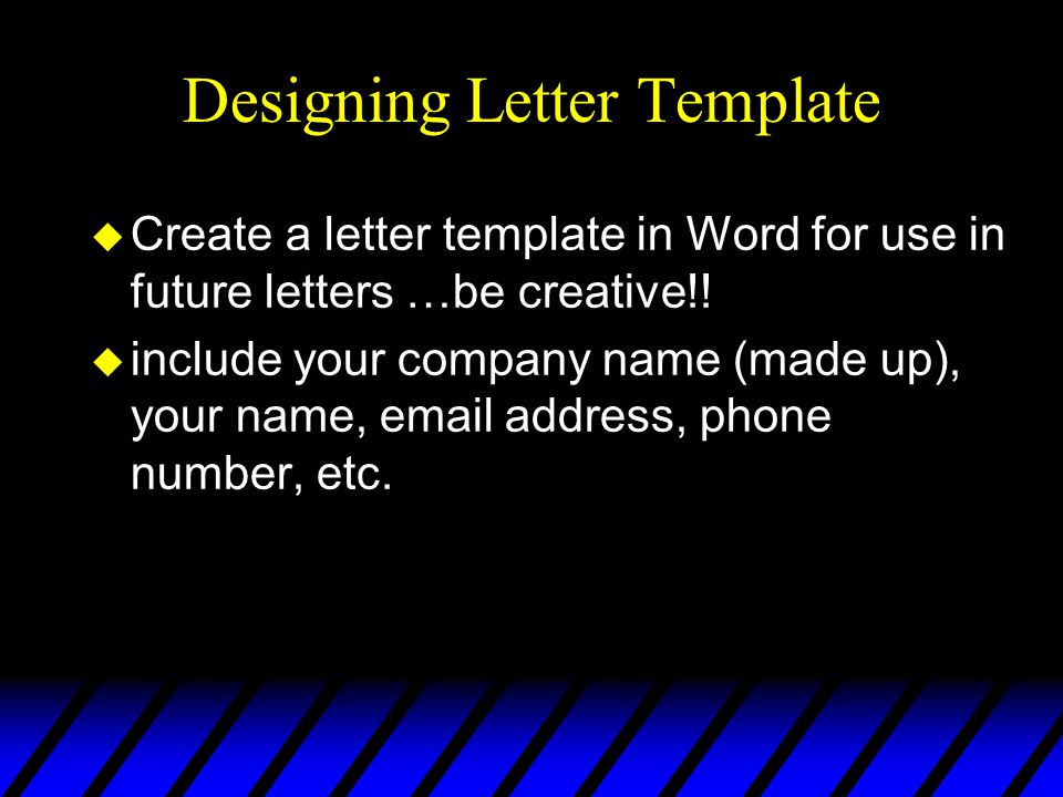 Designing Letter Template