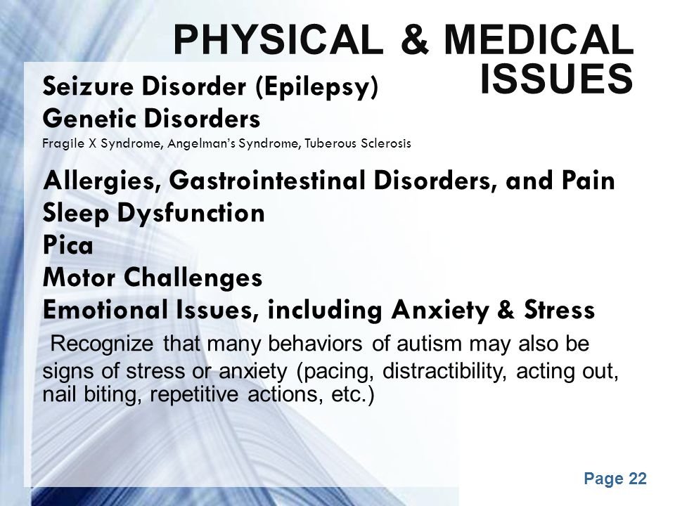 Physical & medical issues