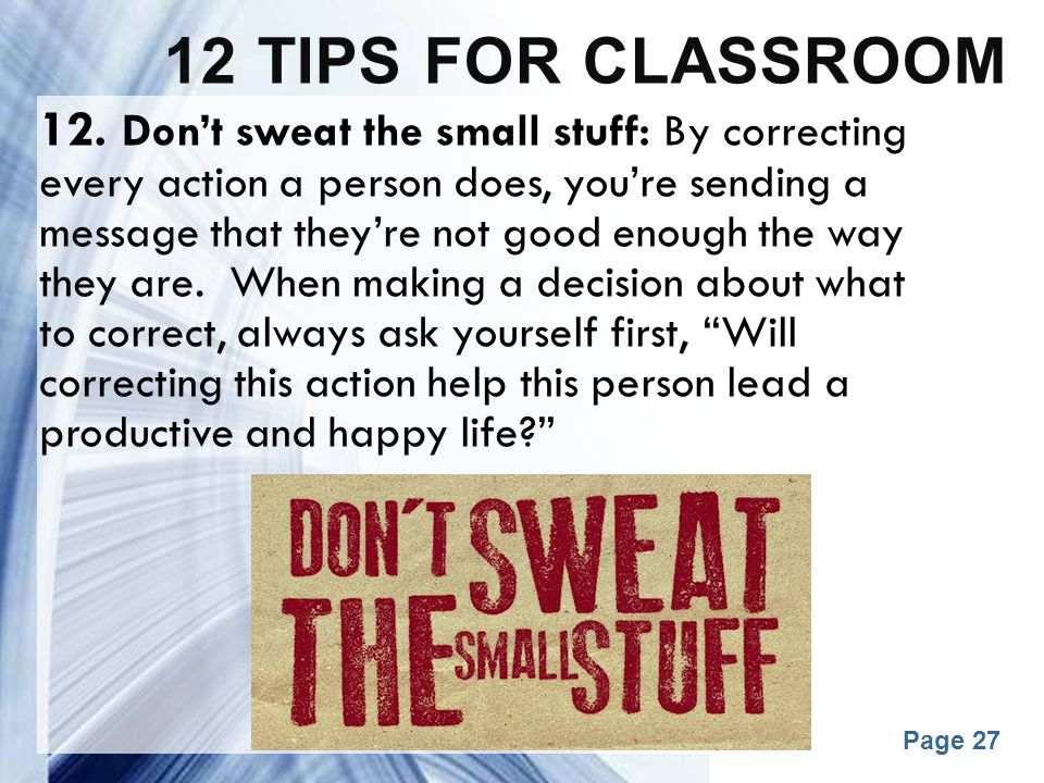 12 tips for classroom