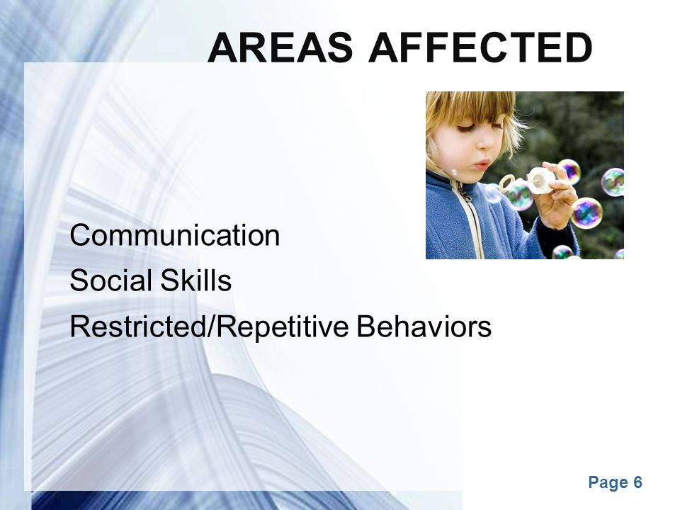 Areas Affected Communication Social Skills