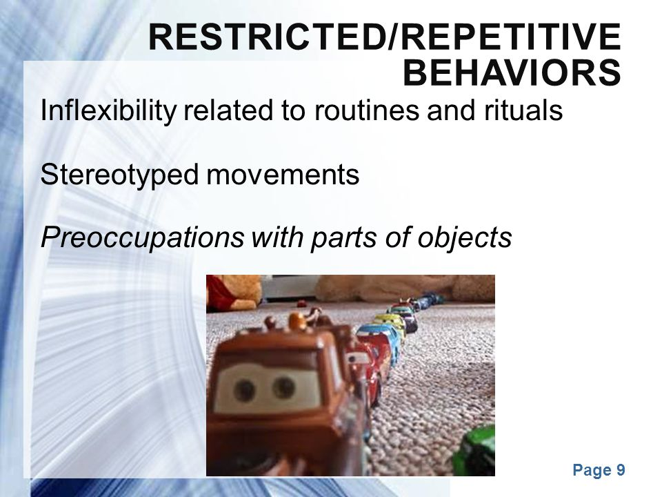Restricted/Repetitive Behaviors