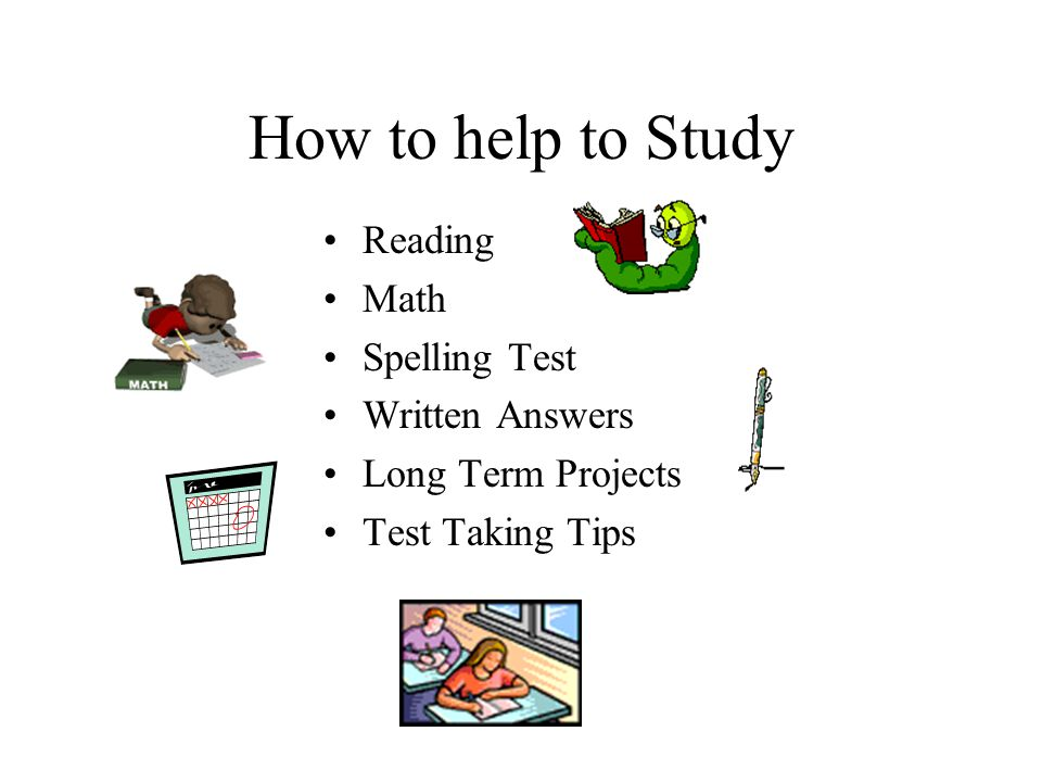 How to help to Study Reading Math Spelling Test Written Answers