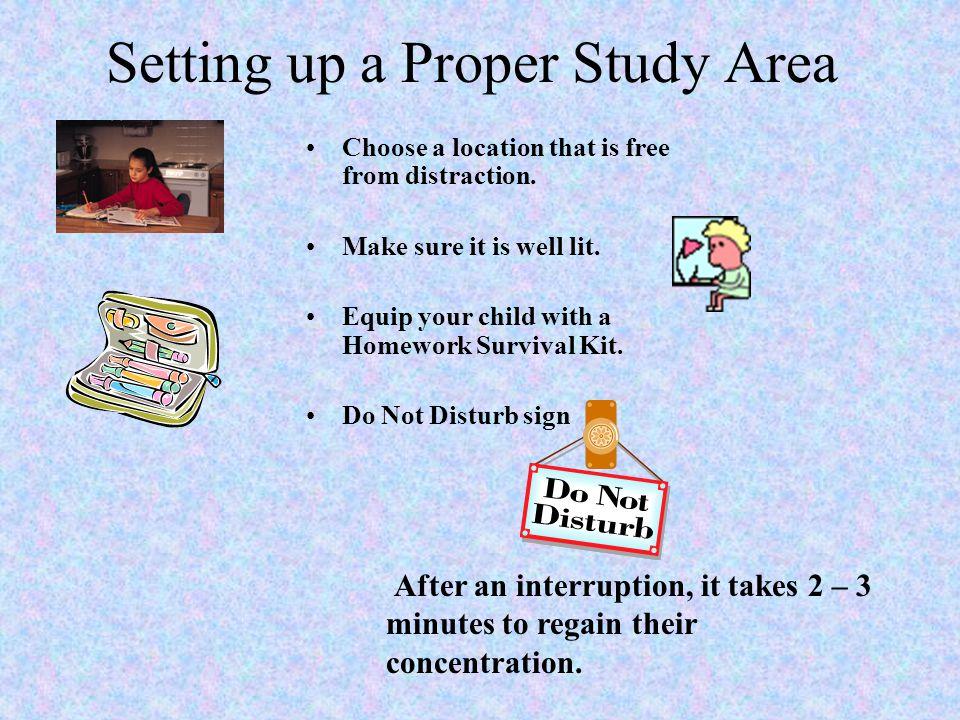 Setting up a Proper Study Area