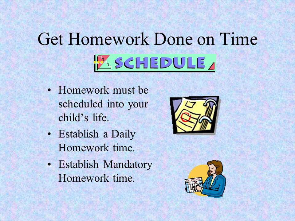 Get Homework Done on Time