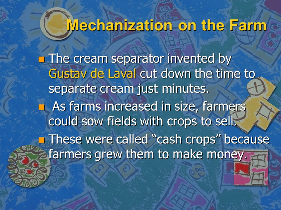Mechanization on the Farm
