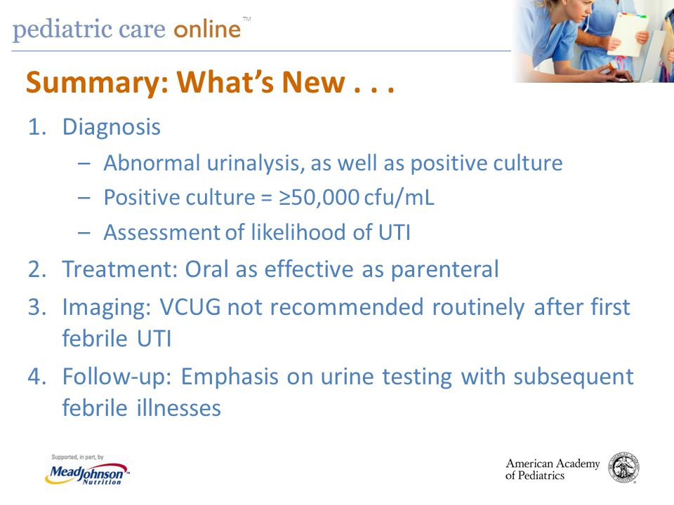 Summary: What's New . . . Diagnosis
