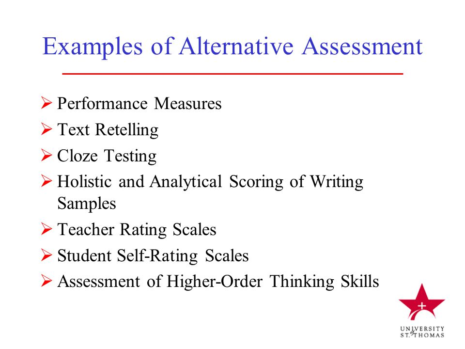Examples of Alternative Assessment