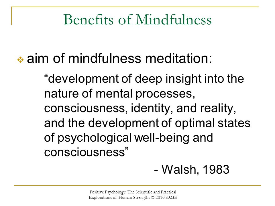 Benefits of Mindfulness