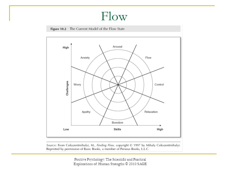 Flow Positive Psychology: The Scientific and Practical Explorations of Human Strengths © 2010 SAGE