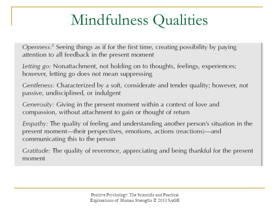 Mindfulness Qualities
