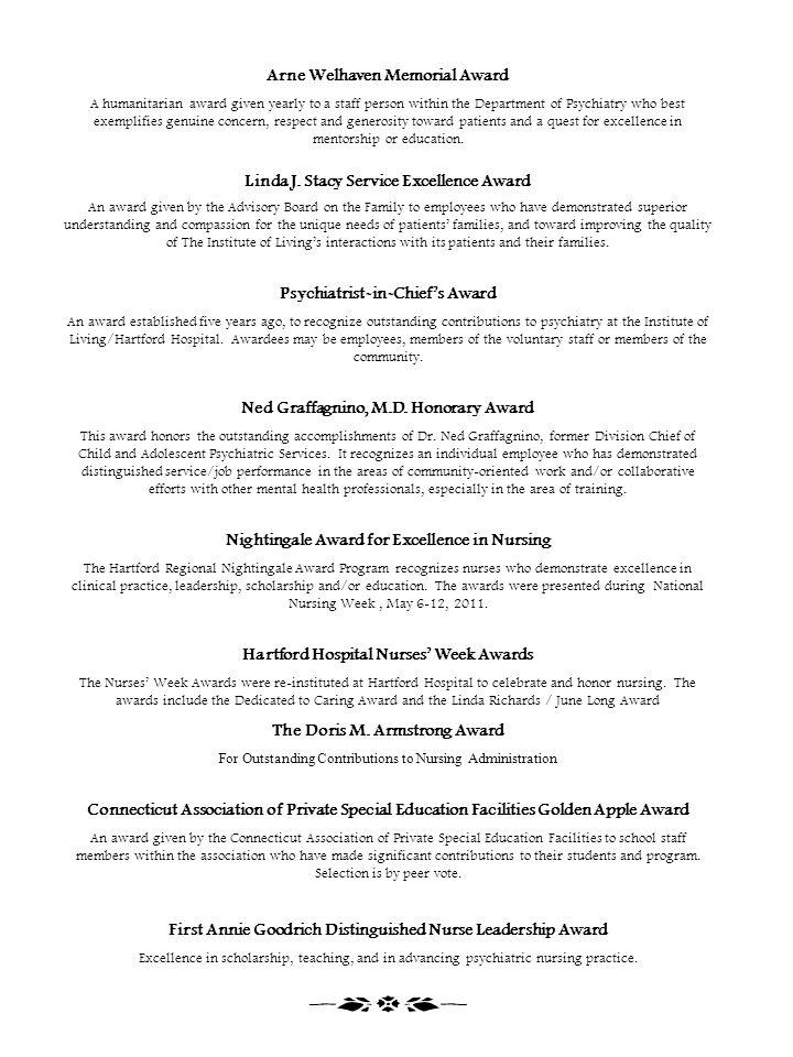 Arne Welhaven Memorial Award