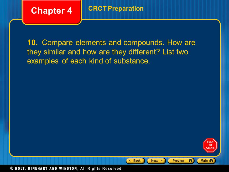 Chapter 4 CRCT Preparation.