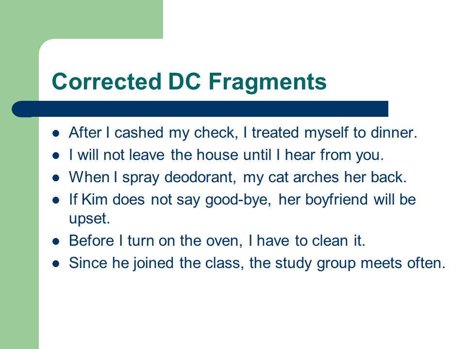 Corrected DC Fragments