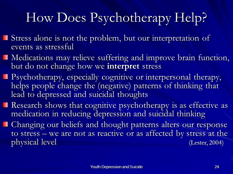 How Does Psychotherapy Help