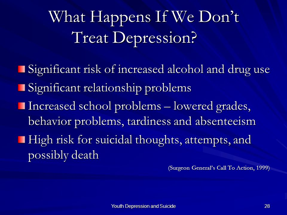 What Happens If We Don't Treat Depression