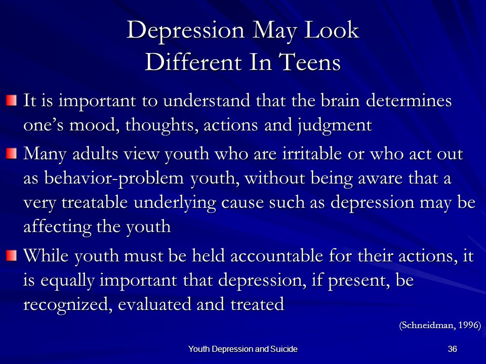 Depression May Look Different In Teens