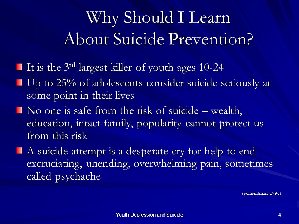 Why Should I Learn About Suicide Prevention