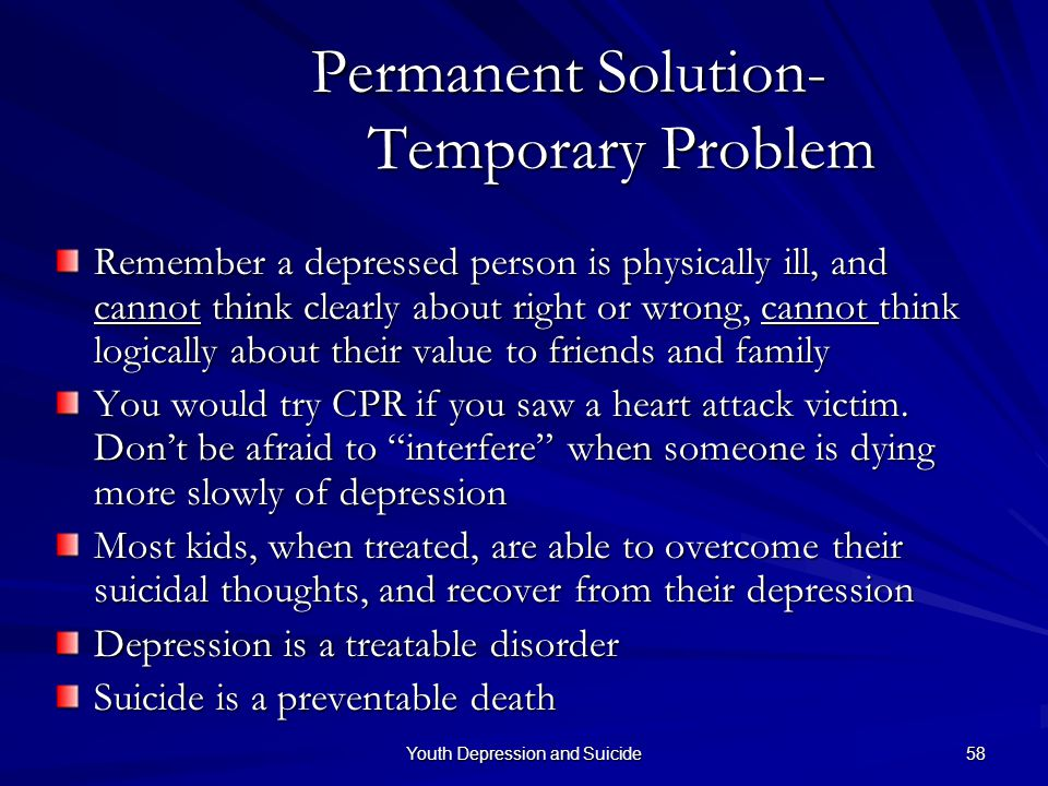 Permanent Solution- Temporary Problem